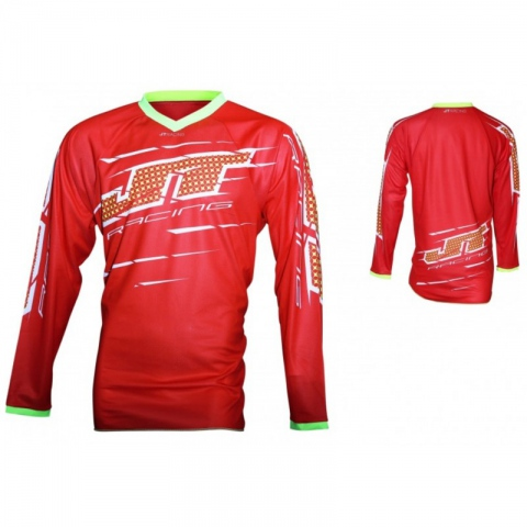 Bluza JT RACING FLEX SLASHER JERSEY  RED-YELLOW  ROZMIAR S