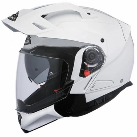 Kask szczękowy SMK HYBRID EVO WHITE GL100 ROZMIAR XL