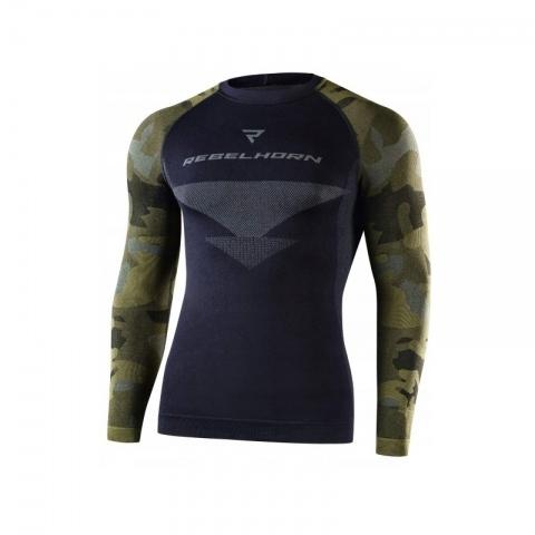 Koszulka termoaktywna REBELHORN z długim rękawem Freeze KOLOR- MORO  CAMO ROZMIAR S