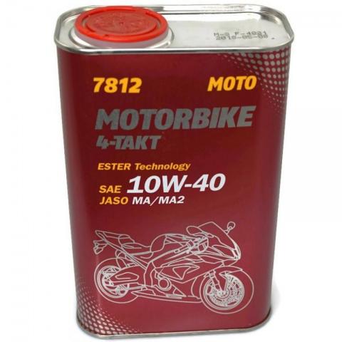 OLEJ MANNOL 7812 10W40 MOTORBIKE ESTER 1Litr 4T