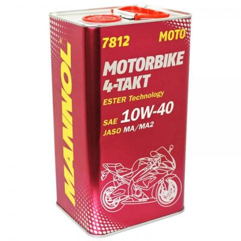 OLEJ MANNOL 7812 10W40 MOTORBIKE ESTER 4Litry 4T