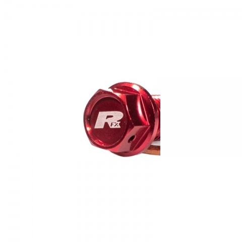 RFX KOREK SPUSTOWY OLEJU Magnetyczna śruba spustowa (czerwona) [M8 x 35 mm x 1,25] Honda CRF450 02-08 CRF450X 05-17