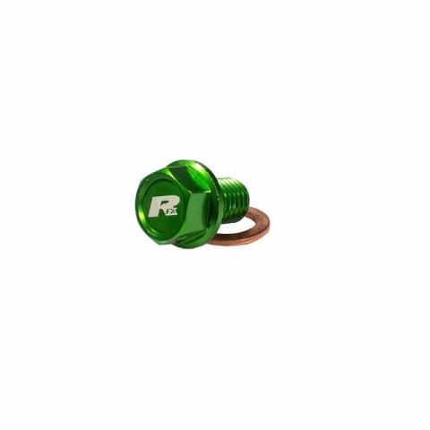 RFX KOREK SPUSTOWY OLEJU Magnetyczna śruba spustowa M10x15mmx1,25 KX65 00> KX85 01> KX125 / 250 96> KXF250 04-17 KXF450 16-18 KX500 92