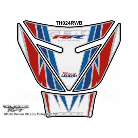 TANKPAD NAKLEJKA  Honda CBR1000RR Fireblade 2008-2016 Biały motocyklowy ochraniacz na zbiornik paliwa KOD PRODUKTU - TH024RWB