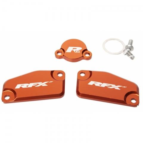 Zestaw dekli  nakładek, zestaw pokryw, korek RFX  pomarańczowy  KTM SX65 14-20 SX85 13-20